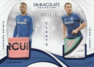 Panini IMMACULATE Soccer 2019 Chelsea Drogba and Terry Match Worn Cleats #/12