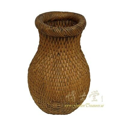Vintage Chinese Hand Woven Willow fish Basket