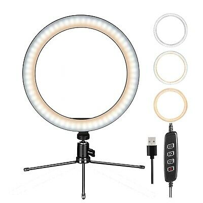 """8"""" LED Ring Light w/Mount Stand Selfie Kit for Phone Video Live Stream Broadcast"""