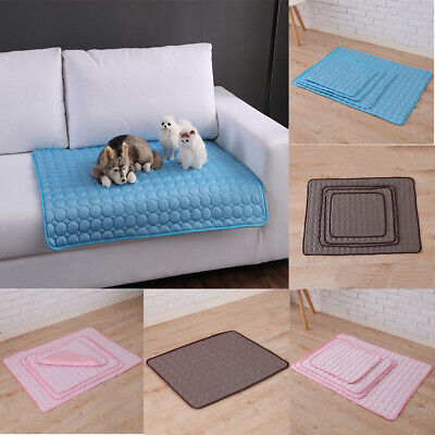Pet Cat Dog Cooling Mat Chilly Non-Toxic Summer Cool Bed Pad Cushion Indoor