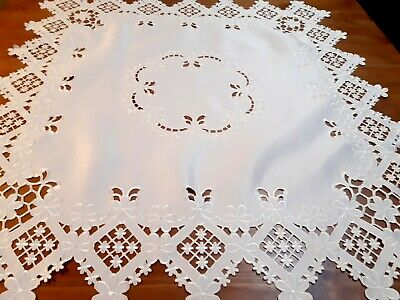 Square 85*85cm Cream Cutout/Embroidered Polyester T/Cloth