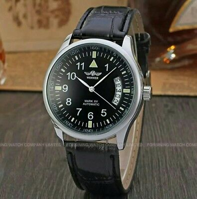 Winner Big Pilot Style Luxury Fashion Automatic Mechanical Watch Flieger Aviator