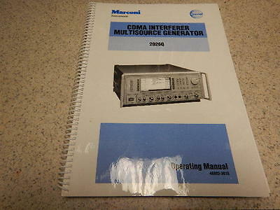 Marconi 2026Q Interferer Multisource Generator_Operating Manual