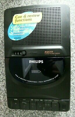 Philips AQ6355 Portable Cassette Tape Recorder In Mint Condition Old Stock