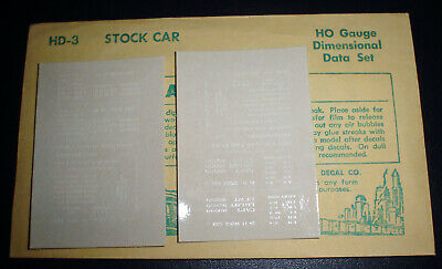 Champ, Stock Car, White Dimensional Data, Ho Scale Decals, Hd-3