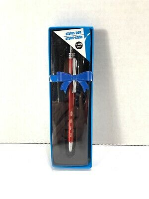 Greenbriar International Stylus Pen Red with Silver Trim - Black Ink