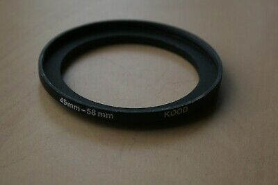 Stepping Ring Step Up Rings 49Mm To 58Mm Kood Quality Lens Filter Adapter