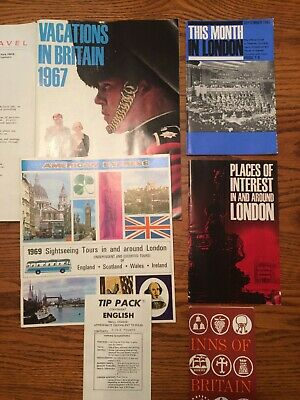 Lot of 1960's London Travel Pamphlets, Booklets, Maps