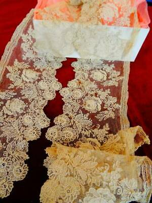 A Stunning 19th Century Point De Gaze Handmade Lace C.1880