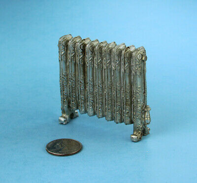 Dollhouse Miniature Decorative Antique Silver Heating Register/Radiator #SD2330
