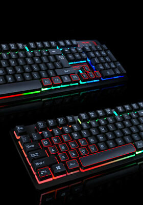 WIRED GAMING KEYBOARD And Mouse Set Kit LED For PC PS4