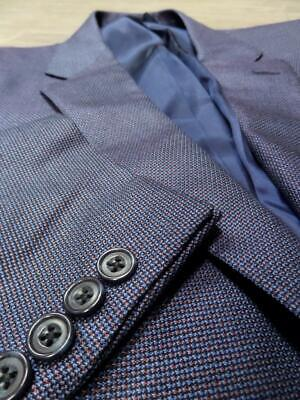 HOLLAND & SHERRY tom james CANVASSED bespoke blazer 46L hand tailored