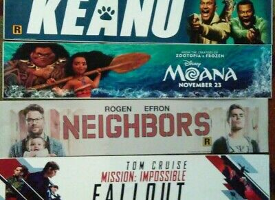 Movie Lightbox 5 Mylar Poster Lot- size 5x25- hangs above theater entrance