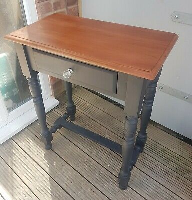 Shabby Chic Mahogany hall occasional,lamp,hall Table With Drawer