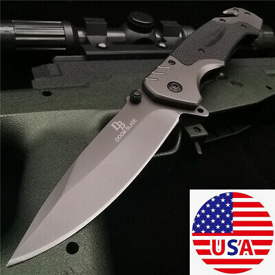 Hunting Folding Knife G10 Flipper Tactical Combat Camping Pocket Knives Survival