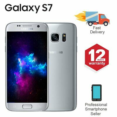 SAMSUNG GALAXY S7 32GB Unlocked 4G SIM Android Mobile Phone Silver
