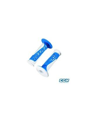 Revetement/poignee doppler grip radical blanc/bleu (pr)