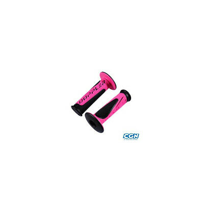 Revetement/poignee doppler grip radical noir/rose fluo(pr)