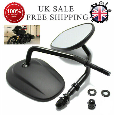 Motorcycle Bar End Rear View Side Mirrors Replaces For Harley Sportster Black