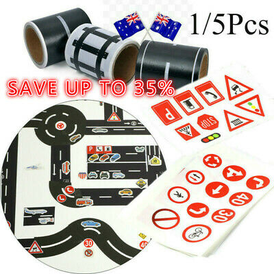 Railway Road Tape Sticker Wide Masking Tape Kids Safety Education Road Signs AU