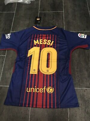 Nike Mens Barcelona Home Shirt Messi 10 BNWT Size Medium
