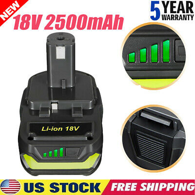 For Ryobi P108 18V 2.5Ah Lithium Ion Battery Pack ONE PLUS P122 P105 P103 P102