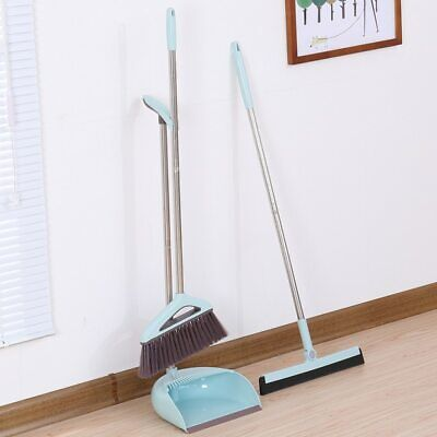 Dustpan And Brush Set Long Handle Strong Sweeping Brush Pan Cleaning Home Dust