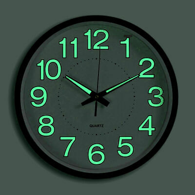 Wall Clock 12 Inch 30 CM Luminous Glow In The Dark Quartz Bedroom Watch Living
