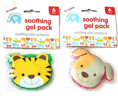Kids Reusable Soothing Gel Cold Compress Pack  6 Mths + New