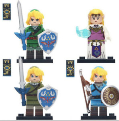 The Legend of Zelda (Bundle Pack) - Lego Moc Minifigure Link Nintendo Game 4 pcs
