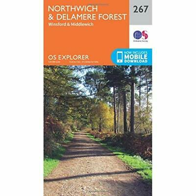 OS Explorer Map (267) Northwich and Delamere Forest - Map NEW Ordnance Survey 20