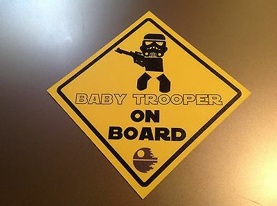 Baby on Board Star Wars 'Baby Trooper on Board'   Waterproof vinyl car Sticker