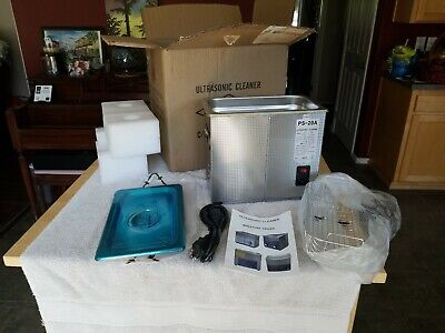 New CO-Z Ps-20a Digital Ultrasonic Cleaner Miniature series Stainless Steel 3.0l