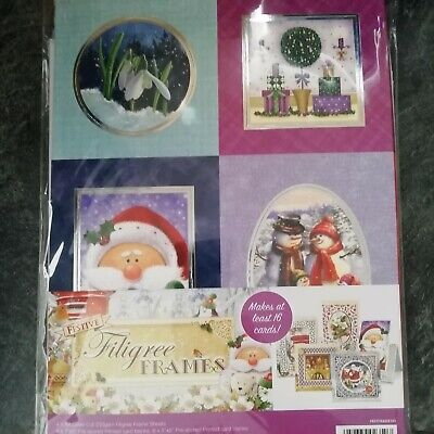 Hunkydory Festive Filigree Frames Card Collection + FREE PAPERS & INSERTS