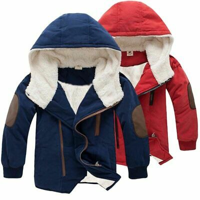 Kids Baby Boys Girls Winter Warm Faux Fur Coat Outerwear Hooded Jacket Clothes