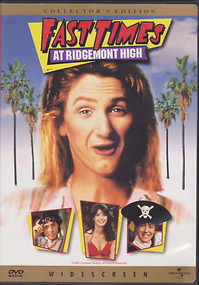 Fast Times at Ridgemont High (DVD, 1999, Widescreen Collectors Edition) New Seal