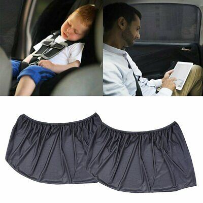 2X Universal Car Rear Window Sun Shade Blind Mesh Cover Screen Child Protect GR