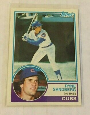 1983 Topps Ryne Sandberg Chicago Cubs Hall Of Fame Rookie Card #83