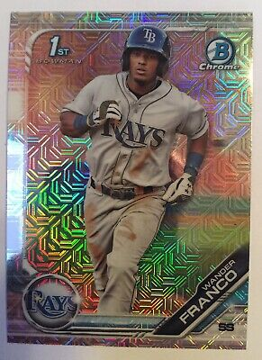 WANDER FRANCO 2019 1st Bowman Chrome Mega Box MOJO REFRACTOR Rays Rookie Card RC