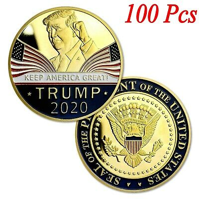 100X Donald Trump 2020 Keep America Great Commemorative Challenge Eagle Coins R