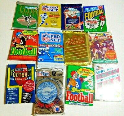 $1 Old Unopened NFL FOOTBALL CARD LOT IN PACKS Free GU / Auto Card every 5 lots!