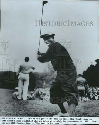 1978 Press Photo Bing Crosby playing in the 1948 Celebrity Golf Tournament
