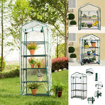 5 Tier Mini Greenhouse Outdoor PVC Cover Plastic Garden Green House Grow Bag Hot