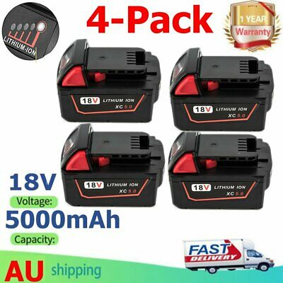 For Milwaukee M18 18V XC 5.0Ah Cordless battery 48-11-1850 LITHIUMION 48-11-1840