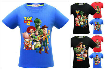 New Cute Kids Boys Toy Story 4 T shirts Casual Cartoon T shirts Tops 4-10Years