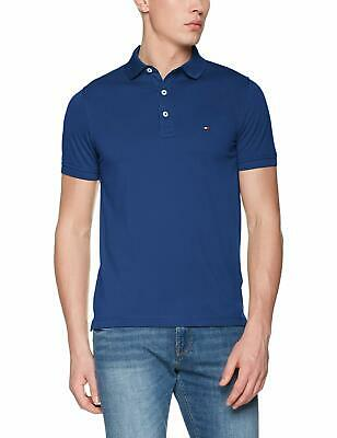TOMMY HILFIGER Polo Homme Bleu polo col manches fermeture