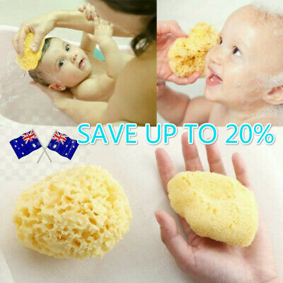 Soft Honeycomb Sponge Natural Sea Skin Care Baby Body Cleaning Shower au