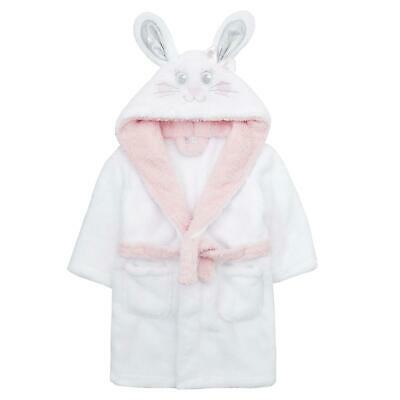 Easter Childrens / Girls Novelty Bunny Snuggle Fleece Dressing Gown ~ 2-6 Yrs
