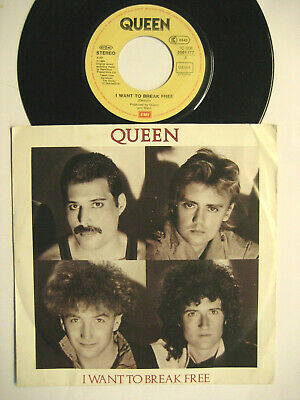 """Queen """"I Want To Break Free / Machines Or Back To Humans"""" - 7"""" Vinyl Single"""