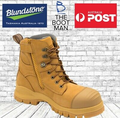 c840b1ed7db BLUNDSTONE 992 STEEL Toe Safety Men's Work Boots. Wheat, 150mm, Lace ...